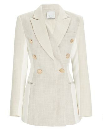 Kings Double-Breasted Blazer, IVORY/GREY, hi-res