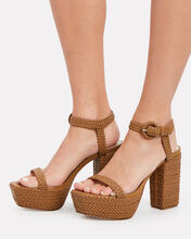 Sabella Braided Platform Sandals, BROWN, hi-res