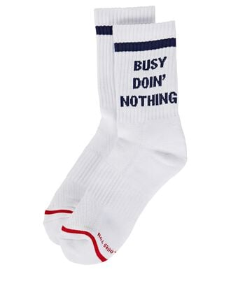 Busy Doing Nothing Socks, WHITE, hi-res