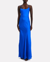 Castello Sleeveless Silk Maxi Dress, BLUE, hi-res