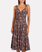 Kali Floral Cotton Midi Dress, , hi-res