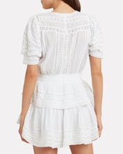 Marissa Lace Cotton Dress, WHITE, hi-res