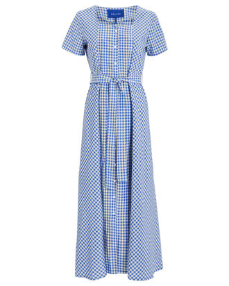 Noma Gingham Dress, BLUE/WHITE, hi-res