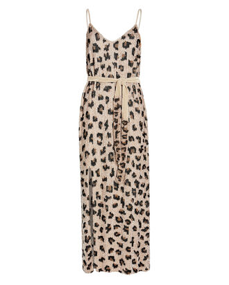Rebecca Sequin-Embellished Slip Dress, BEIGE/LEOPARD, hi-res