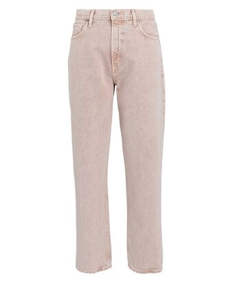 Marlee Relaxed Straight-Leg Jeans, PINK, hi-res