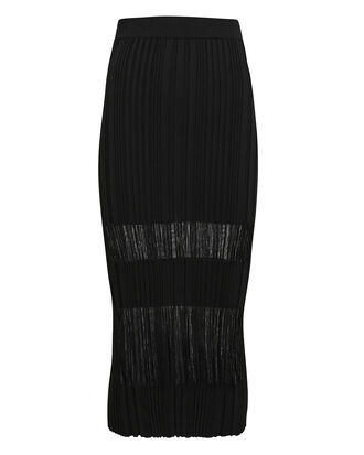 Opacity Pleated Knit Midi Skirt, BLACK, hi-res