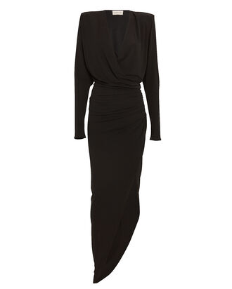 Draped Jersey Long Sleeve Dress, , hi-res