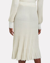 Kelly Pleated Knit Skirt, IVORY, hi-res