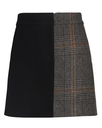 Mats Colorblock Mini Skirt, GREY/BLACK, hi-res