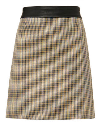 Krisa Houndstooth Mini Skirt, MULTI, hi-res