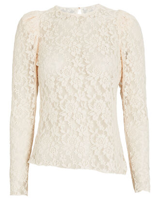 Rubina Lace Long Sleeve Top, IVORY, hi-res