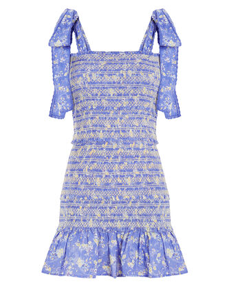 Belle Smocked Cotton Dress, MULTI, hi-res