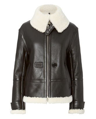 Aviator Shearling Jacket, BLACK, hi-res