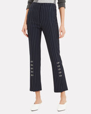 Pinstriped Tailored Cigarette Pants, NAVY/WHITE, hi-res