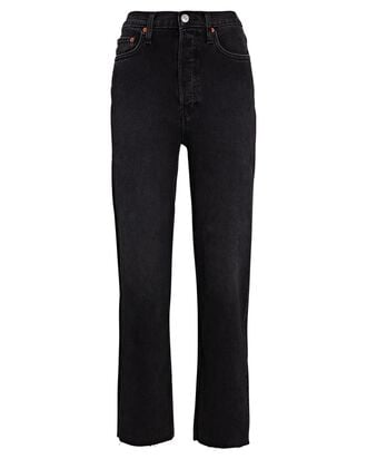 70s Stove Pipe Jeans, WASHED NOIR, hi-res