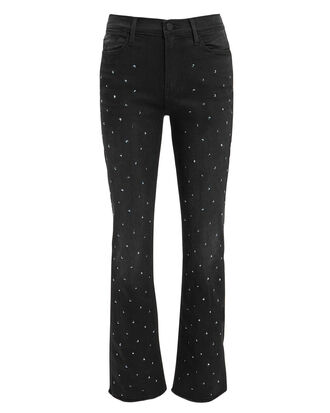 Le High Straight Embellished Jeans, BLACK, hi-res