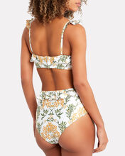 Alicia Ruffled Floral Bikini Bottoms, WHITE FLORAL, hi-res