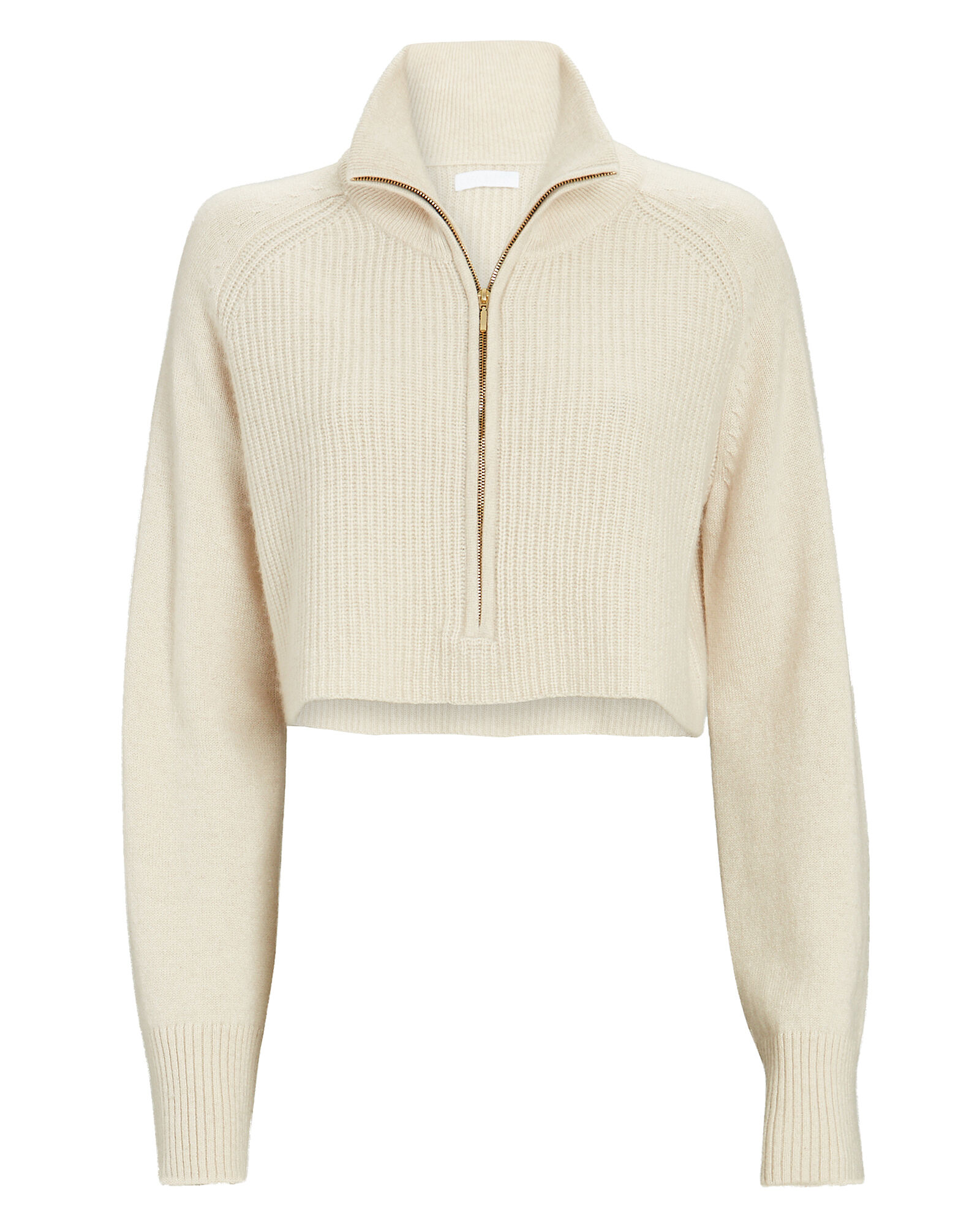 Nash Cropped Cashmere Sweater, IVORY, hi-res