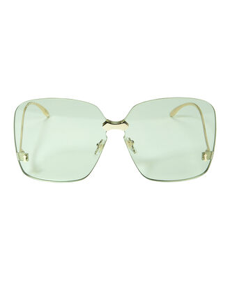 Rimless Square Sunglasses, GOLD, hi-res