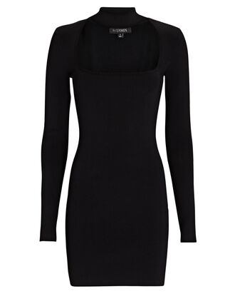 Marcie Choker Neck Mini Dress, BLACK, hi-res