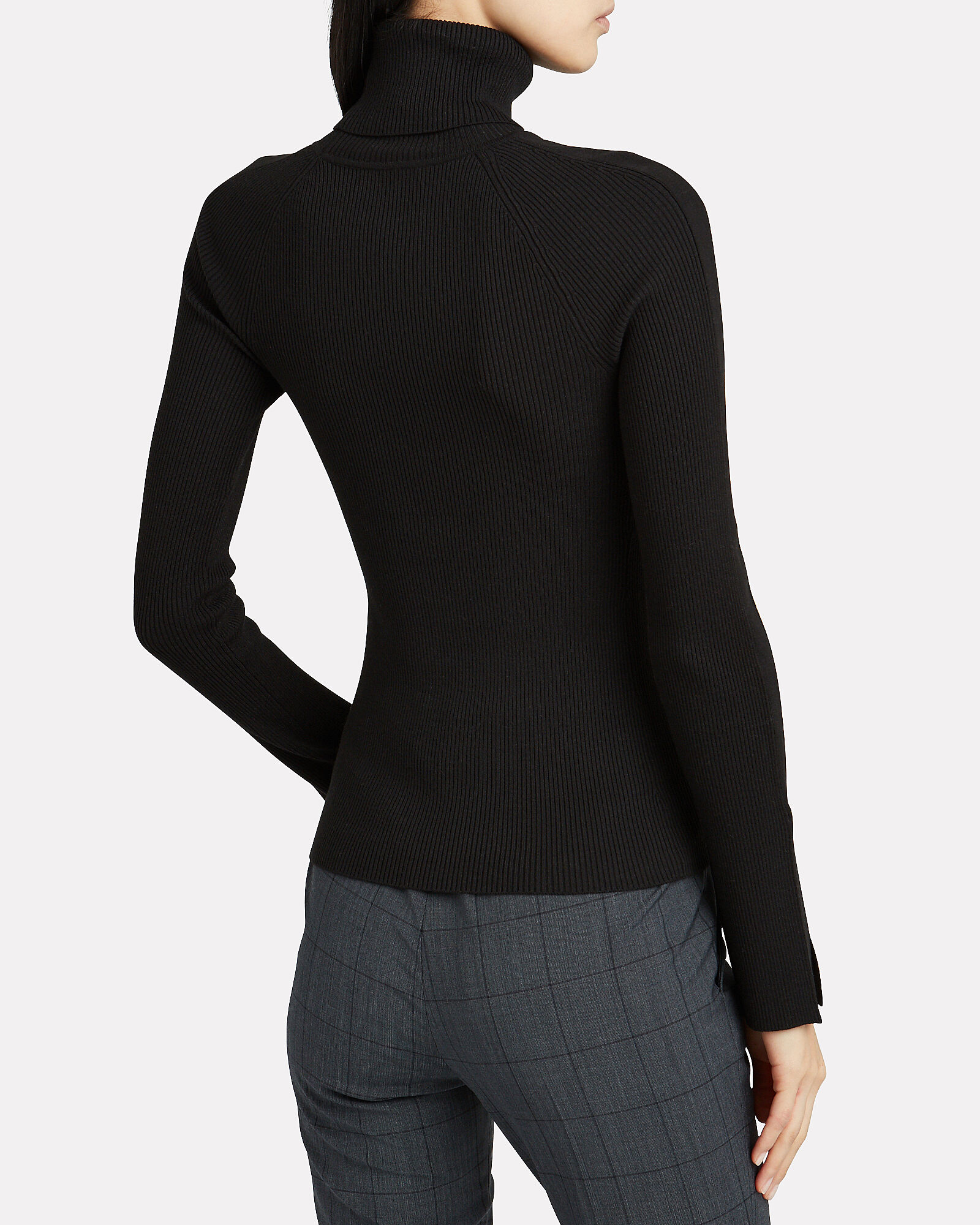 Elsa Rib Knit Turtleneck Top, BLACK, hi-res
