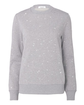 Mini Star-Studded Grey Sweatshirt, GREY, hi-res
