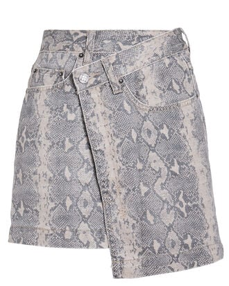 Rap Python Print Denim Skirt, MULTI, hi-res