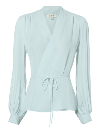 Cara Wrap Blouse, BLUE-LT, hi-res