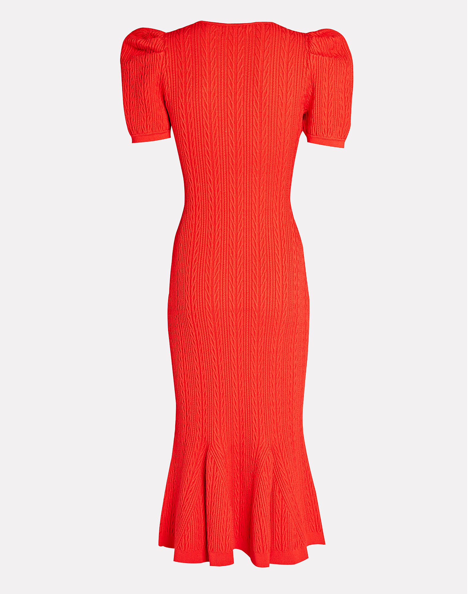 Marley Cable Knit Midi Dress, RED, hi-res
