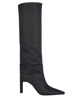 Vitto 85 Faille Knee-High Boots, BLACK, hi-res