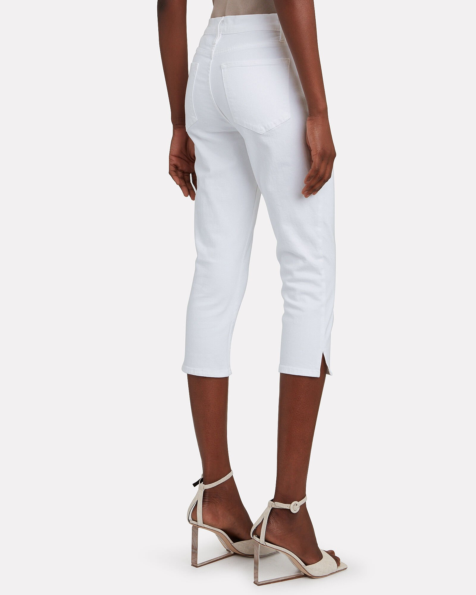 Le High Pedal Pusher Skinny Jeans, BLANC, hi-res