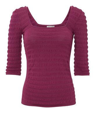 Carmel Square Neck Top, PURPLE, hi-res
