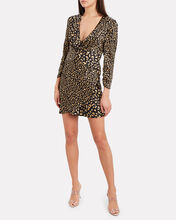 Lilly Leopard Silk Mini Dress, BLACK/LEOPARD, hi-res