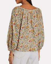 The Canopy Floral Blouse, BEIGE/YELLOW/GREEN, hi-res