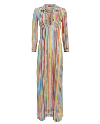 Striped Maxi Cover-Up, RAINBOW/STRIPES, hi-res