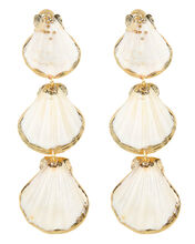 Tiered Shell Earrings, IVORY, hi-res