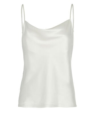 Fayette Cowl Neck Silk Camisole, IVORY, hi-res