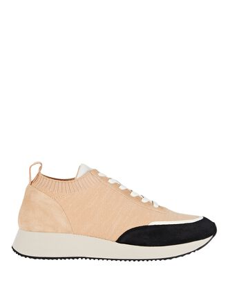 Remi Knit Low-Top Sneakers, BEIGE, hi-res
