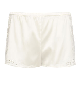 Charlotte Lace Trim Shorts, WHITE, hi-res