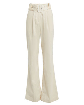 Elisa Corduroy Wide-Leg Pants, CREAM, hi-res