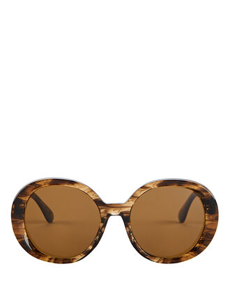 Leidy Oversized Sunglasses, SEPIA, hi-res