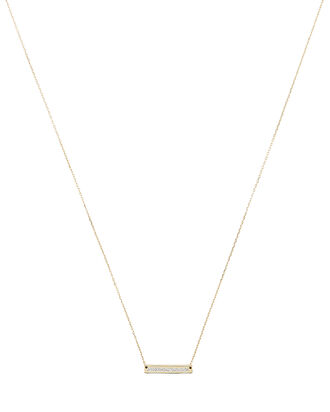 Pavé Stamp Necklace, GOLD, hi-res