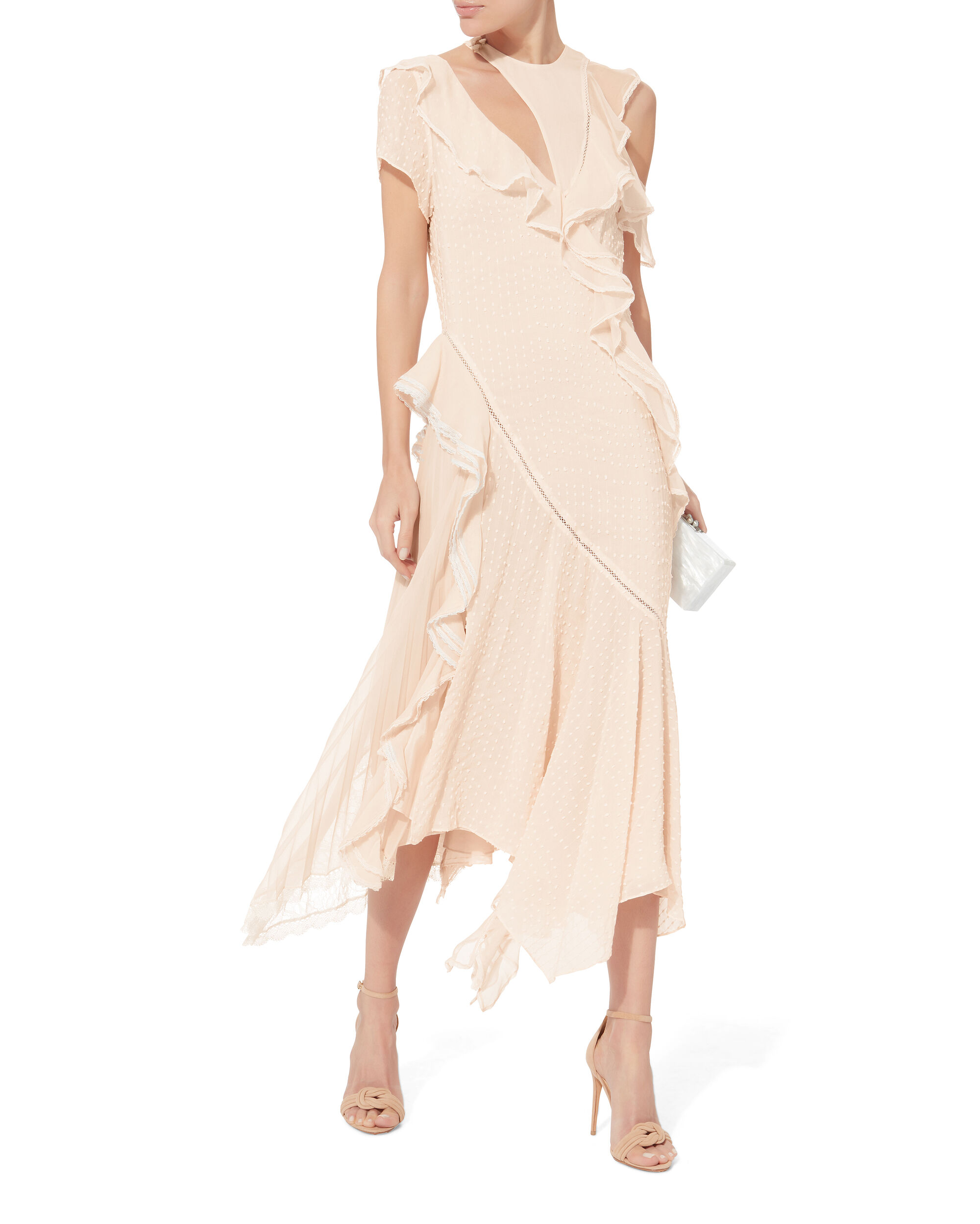 Cutout Lace Gown, PINK, hi-res