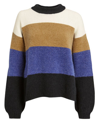 Sylvie Colorblock Sweater, WHITE/BLACK/BLUE, hi-res