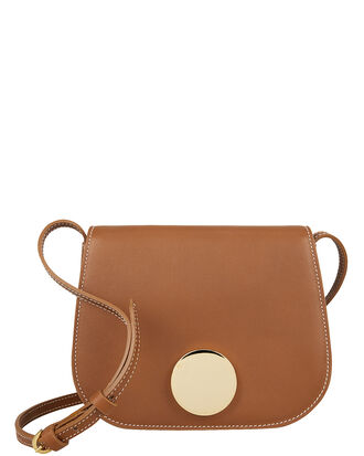 Saddle Mini Crossbody Bag, BROWN LEATHER, hi-res