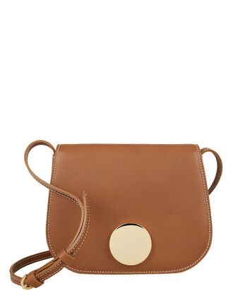 Saddle Mini Crossbody Bag, BROWN, hi-res