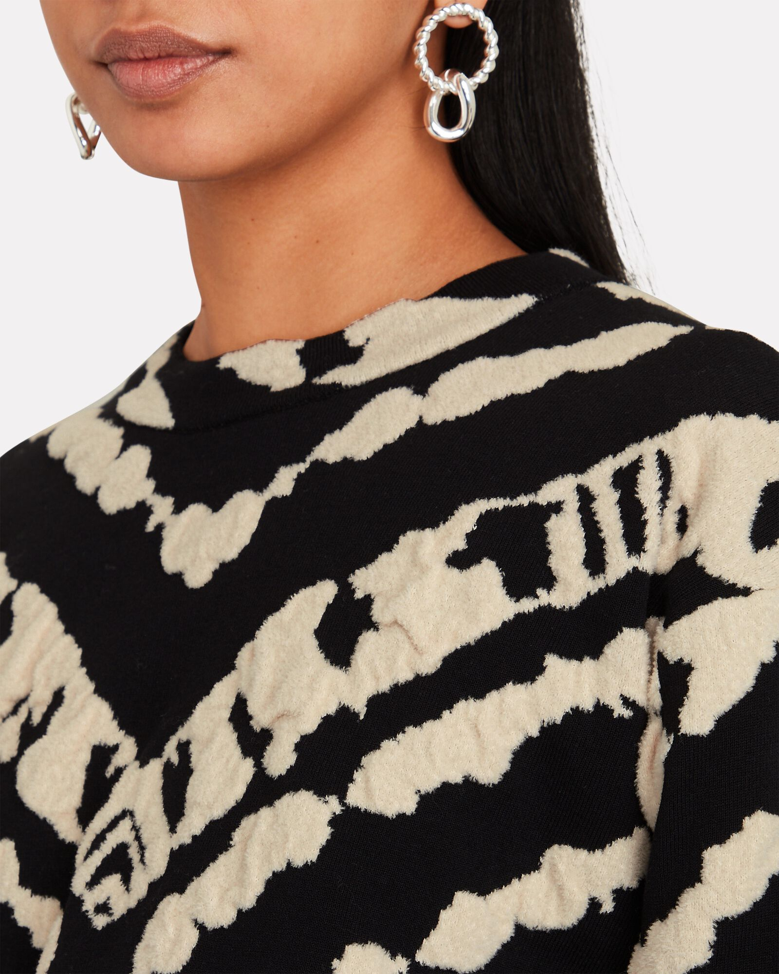 Abstract Jacquard Sweater, MULTI, hi-res