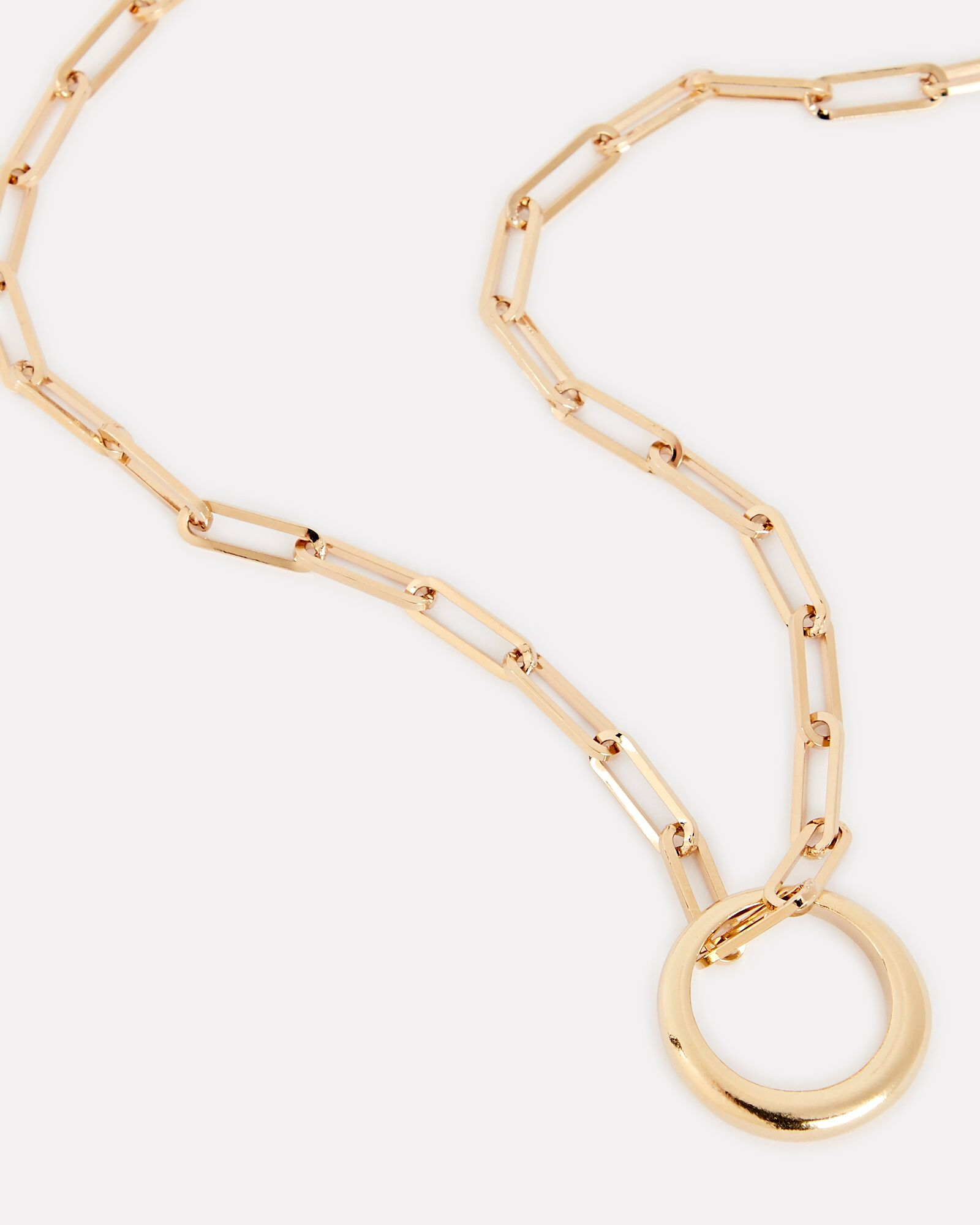 Link Chain Ring Necklace, GOLD, hi-res