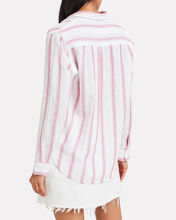 Reagan Striped Button Front Shirt, PINK, hi-res