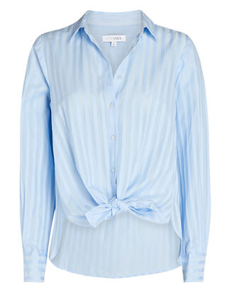Gretchen Striped Button-Down Shirt, BLUE-MED, hi-res